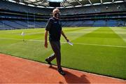 19 June 2021; Uachtarán Chumann Lúthchleas Gael Larry McCarthy wanders around Croke Park some two hours before the Allianz Football League Division 3 Final match between Derry and Offaly at Croke Park in Dublin. Photo by Ray McManus/Sportsfile