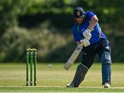 19 June 2021; William McClintock of North West Warriors during the Cricket Ireland InterProvincial Trophy 2021 match between between Munster Reds and North West Warriors at Pembroke Cricket Club in Dublin. Photo by Seb Daly/Sportsfile