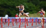 20 June 2021; Lara O'Byrne of Donore Harriers, Dublin, on her way to winning the Under 23 Women's 100m Hurdles during day two of the Irish Life Health Junior Championships & U23 Specific Events at Morton Stadium in Santry, Dublin. Photo by Sam Barnes/Sportsfile