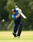 20 June 2021; George Dockrell of Leinster Lightning bats during the Cricket Ireland InterProvincial Trophy 2021 match between Leinster Lightning and North West Warriors at Pembroke Cricket Club in Dublin. Photo by Harry Murphy/Sportsfile