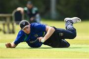 20 June 2021; Shane Getkate of North West Warriors fields during the Cricket Ireland InterProvincial Trophy 2021 match between Leinster Lightning and North West Warriors at Pembroke Cricket Club in Dublin. Photo by Harry Murphy/Sportsfile