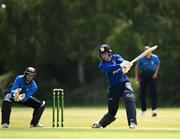 20 June 2021; Shane Getkate of North West Warriors bats during the Cricket Ireland InterProvincial Trophy 2021 match between Leinster Lightning and North West Warriors at Pembroke Cricket Club in Dublin. Photo by Harry Murphy/Sportsfile