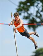 20 June 2021; Ben Connolly of Nenagh Olympic AC, Tipperary, competing in the Junior Men's Pole Vault during day two of the Irish Life Health Junior Championships & U23 Specific Events at Morton Stadium in Santry, Dublin. Photo by Sam Barnes/Sportsfile