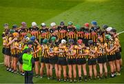 20 June 2021; Kilkenny manager Brian Dowling speaking to his players before the Littlewoods Ireland Camogie League Division 1 Final match between Galway and Kilkenny at Croke Park in Dublin. Photo by Ramsey Cardy/Sportsfile