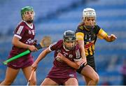 20 June 2021; Niamh Kilkenny of Galway is tackled by Davina Tobin of Kilkenny during the Littlewoods Ireland Camogie League Division 1 Final match between Galway and Kilkenny at Croke Park in Dublin. Photo by Piaras Ó Mídheach/Sportsfile