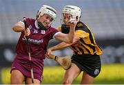 20 June 2021; Ailish O'Reilly of Galway in action against Davina Tobin of Kilkenny during the Littlewoods Ireland Camogie League Division 1 Final match between Galway and Kilkenny at Croke Park in Dublin. Photo by Piaras Ó Mídheach/Sportsfile
