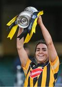 20 June 2021; Kilkenny captain Meighan Farrell lifts the cup after the Littlewoods Ireland Camogie League Division 1 Final match between Galway and Kilkenny at Croke Park in Dublin. Photo by Piaras Ó Mídheach/Sportsfile