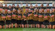 20 June 2021; Kilkenny captain Meighan Farrell and her team-mates celebrate with the cup after the Littlewoods Ireland Camogie League Division 1 Final match between Galway and Kilkenny at Croke Park in Dublin. Photo by Piaras Ó Mídheach/Sportsfile