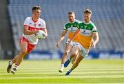 19 June 2021; Shane McGuigan of Derry in action against Peter Cunningham of Offaly during the Allianz Football League Division 3 Final match between Derry and Offaly at Croke Park in Dublin. Photo by Piaras Ó Mídheach/Sportsfile
