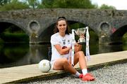 22 June 2021; Pictured on the bank of the River Barrow, which borders Laois and Kildare in Barrowhouse, Co. Laois, is Kildare captain Grace Clifford ahead of the Lidl Ladies National Football League Division 3 Final between Laois and Kildare, which will be played at Baltinglass GAA Club in Wicklow next Sunday. The game will be streamed LIVE on the Spórt TG4 YouTube Page. Photo by Matt Browne/Sportsfile