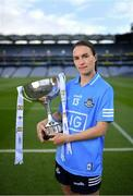 22 June 2021; Division 1 Final captain Sinead Aherne of Dublin in attendance during the Lidl Ladies National Football League Finals captains day at Croke Park in Dublin. The Lidl Ladies National Football League Division 1 & 2 Finals take place on Saturday, June 26, at Croke Park in Dublin. Kerry play Meath in the Division 2 Final at 5pm, followed by the Division 1 Final pairing of Cork and Dublin at 7.30pm. Both games will be shown live on TG4. Photo by Brendan Moran/Sportsfile