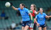 12 June 2021; Hannah Tyrrell of Dublin in action against Clodagh McManamon of Mayo during the Lidl Ladies National Football League Division 1 semi-final match between Dublin and Mayo at LIT Gaelic Grounds in Limerick. Photo by Piaras Ó Mídheach/Sportsfile