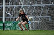 12 June 2021; Mayo goalkeeper Laura Brennan looks on as she is beaten for Dublin's fourth goal, a penalty by Sinéad Aherne, during the Lidl Ladies National Football League Division 1 semi-final match between Dublin and Mayo at LIT Gaelic Grounds in Limerick. Photo by Piaras Ó Mídheach/Sportsfile