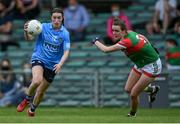 12 June 2021; Sinéad Aherne of Dublin in action against Clodagh McManamon of Mayo during the Lidl Ladies National Football League Division 1 semi-final match between Dublin and Mayo at LIT Gaelic Grounds in Limerick. Photo by Piaras Ó Mídheach/Sportsfile