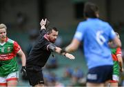 12 June 2021; Referee Séamus Mulvihill during the Lidl Ladies National Football League Division 1 semi-final match between Dublin and Mayo at LIT Gaelic Grounds in Limerick. Photo by Piaras Ó Mídheach/Sportsfile
