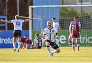 21 June 2021; Chris Shields of Dundalk celebrates his side's first goal, scored by team-mate Michael Duffy, during the SSE Airtricity League Premier Division match between Drogheda United and Dundalk at Head in the Game Park in Drogheda, Louth. Photo by Piaras Ó Mídheach/Sportsfile