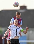 21 June 2021; Killian Phillips of Drogheda United in action against Chris Shields of Dundalk during the SSE Airtricity League Premier Division match between Drogheda United and Dundalk at Head in the Game Park in Drogheda, Louth. Photo by Piaras Ó Mídheach/Sportsfile