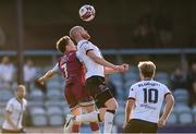 21 June 2021; Chris Shields of Dundalk in action against Darragh Markey of Drogheda United during the SSE Airtricity League Premier Division match between Drogheda United and Dundalk at Head in the Game Park in Drogheda, Louth. Photo by Piaras Ó Mídheach/Sportsfile