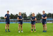 23 June 2021; Ballygowan and Energise Sport, part of Britvic Ireland, have today renewed their partnership with Dublin GAA to remain as the official hydration partners of Dublin GAA in a new three-year deal. Ballygowan has relaunched the brand with the new 'Bottled Wild' campaign. At the launch in Parnell Park are, from left, Dublin hurler Donal Burke, Dublin ladies footballer Nicole Owens, Dublin camogie player Sinéad Wylde and Dublin footballer Ciaran Kilkenny. Photo by Stephen McCarthy/Sportsfile