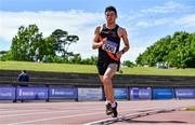 19 June 2021; Thomas Baltazar of Clonliffe Harriers AC, Dublin, competing in the Under 23 Men's 5000m during day one of the Irish Life Health Junior Championships & U23 Specific Events at Morton Stadium in Santry, Dublin. Photo by Sam Barnes/Sportsfile