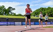 19 June 2021; Sean Melarkey of City of Derry AC Spartans, Derry, competing in the Under 23 Men's 5000m during day one of the Irish Life Health Junior Championships & U23 Specific Events at Morton Stadium in Santry, Dublin. Photo by Sam Barnes/Sportsfile