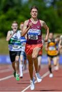 19 June 2021; Eoin Quinn of Mullingar Harriers AC, Westmeath, on his way to winning the Junior Men's 800m during day one of the Irish Life Health Junior Championships & U23 Specific Events at Morton Stadium in Santry, Dublin. Photo by Sam Barnes/Sportsfile
