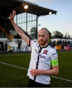 25 June 2021; Chris Shields of Dundalk having played his final game for the club after the SSE Airtricity League Premier Division match between Dundalk and Derry City at Oriel Park in Dundalk, Louth. Photo by Stephen McCarthy/Sportsfile