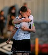 25 June 2021; Chris Shields, right, and Andy Boyle of Dundalk following SSE Airtricity League Premier Division match between Dundalk and Derry City at Oriel Park in Dundalk, Louth. Photo by Stephen McCarthy/Sportsfile
