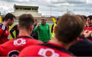 26 June 2021; Kerry manager Fintan O'Connor speaks to the Down players after the Joe McDonagh Cup Round 1 match between Kerry and Down at Austin Stack Park in Tralee, Kerry. Photo by Daire Brennan/Sportsfile