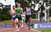 26 June 2021; Hiko Haso Tonosa of Dundrum South Dublin AC, far right, on his way to winning the Men's 5000m during day two of the Irish Life Health National Senior Championships at Morton Stadium in Santry, Dublin. Photo by Sam Barnes/Sportsfile