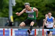 26 June 2021; Thomas Barr of Ferrybank AC, Waterford, on his way to winning the Men's 400m Hurdles during day two of the Irish Life Health National Senior Championships at Morton Stadium in Santry, Dublin. Photo by Sam Barnes/Sportsfile