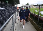26 June 2021; Injured Mayo player Cillian O'Connor arrives prior to the Connacht GAA Football Senior Championship Quarter-Final match between Sligo and Mayo at Markievicz Park in Sligo. Photo by David Fitzgerald/Sportsfile