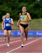 26 June 2021; Phil Healy of Bandon AC, Cork, on her way to winning the Women's 400m during day two of the Irish Life Health National Senior Championships at Morton Stadium in Santry, Dublin. Photo by Sam Barnes/Sportsfile