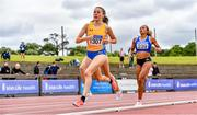 26 June 2021; Sarah Healy of UCD AC, Dublin, on her way to winning the Women's 1500m during day two of the Irish Life Health National Senior Championships at Morton Stadium in Santry, Dublin. Photo by Sam Barnes/Sportsfile