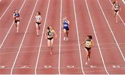 26 June 2021; Phil Healy of Bandon AC, Cork, second from right, crosses the line to win the Women's 400m during day two of the Irish Life Health National Senior Championships at Morton Stadium in Santry, Dublin. Photo by Sam Barnes/Sportsfile