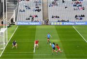 26 June 2021; Hannah Tyrrell of Dublin passes to Niamh Hetherton to set-up a goal, which was subsequently disallowed, during the Lidl Ladies Football National League Division 1 Final match between Cork and Dublin at Croke Park in Dublin. Photo by Ramsey Cardy/Sportsfile