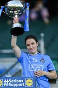 26 June 2021; Dublin captain Sinead Aherne lifts the cup after the Lidl Ladies Football National League Division 1 Final match between Cork and Dublin at Croke Park in Dublin. Photo by Brendan Moran/Sportsfile