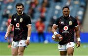 26 June 2021; Robbie Henshaw, left, and Bundee Aki of British and Irish Lions before the 2021 British and irish Lions tour match between the British and Irish Lions and Japan at BT Murrayfield Stadium in Edinburgh, Scotland. Photo by Ian Rutherford/Sportsfile