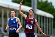 26 June 2021; Leonardo Badolato of Lios Tuathail AC, Kerry, competing in the Men's 100m during day two of the Irish Life Health National Senior Championships at Morton Stadium in Santry, Dublin. Photo by Sam Barnes/Sportsfile
