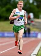 26 June 2021; Sean Tobin of Clonmel AC, Tipperary, competing in the Men's 5000m  during day two of the Irish Life Health National Senior Championships at Morton Stadium in Santry, Dublin. Photo by Sam Barnes/Sportsfile