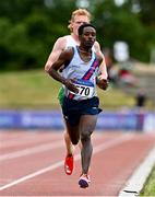 26 June 2021; Hiko Haso Tonosa of Dundrum South Dublin AC, Dublin, competing in the Men's 5000m during day two of the Irish Life Health National Senior Championships at Morton Stadium in Santry, Dublin. Photo by Sam Barnes/Sportsfile