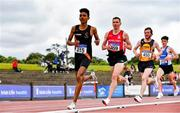 26 June 2021; Efrem Gidey of Clonliffe Harriers AC, Dublin, left, competing in the Men's 5000m during day two of the Irish Life Health National Senior Championships at Morton Stadium in Santry, Dublin. Photo by Sam Barnes/Sportsfile