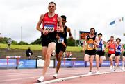 26 June 2021; Conor Bradley of City of Derry AC Spartans,competing in the Men's 5000m during day two of the Irish Life Health National Senior Championships at Morton Stadium in Santry, Dublin. Photo by Sam Barnes/Sportsfile