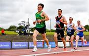 26 June 2021; Ben Brunton of St. Brigids AC, Meath, left, competing in the Men's 5000m during day two of the Irish Life Health National Senior Championships at Morton Stadium in Santry, Dublin. Photo by Sam Barnes/Sportsfile