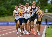 26 June 2021; Shane Bracken of Swinford AC, Mayo, right, leads the field in the Men's 1500m during day two of the Irish Life Health National Senior Championships at Morton Stadium in Santry, Dublin. Photo by Sam Barnes/Sportsfile