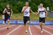 26 June 2021; Christopher O'Donnell of North Sligo AC, competing in the Men's 400m during day two of the Irish Life Health National Senior Championships at Morton Stadium in Santry, Dublin. Photo by Sam Barnes/Sportsfile