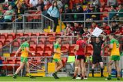 27 June 2021; Michael Murphy of Donegal leaves the pitch in the first half of the Ulster GAA Football Senior Championship Preliminary Round match between Down and Donegal at Páirc Esler in Newry, Down. Photo by Ramsey Cardy/Sportsfile