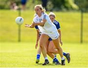 27 June 2021; Lara Gilbert of Kildare in action against Eva Galvin of  Laois during the Lidl Ladies Football National League Division 3 Final match between Kildare and Laois at Baltinglass GAA Club in Baltinglass, Wicklow. Photo by Matt Browne/Sportsfile