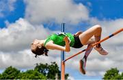 27 June 2021; Aoife O'Sullivan of Liscarroll AC, Cork, competing in the Women's High Jump during day three of the Irish Life Health National Senior Championships at Morton Stadium in Santry, Dublin. Photo by Sam Barnes/Sportsfile