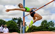 27 June 2021; Ciara Kennelly of Killarney Valley AC, Kerry, competing in the Women's High Jump during day three of the Irish Life Health National Senior Championships at Morton Stadium in Santry, Dublin. Photo by Sam Barnes/Sportsfile